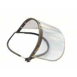 CLEAR FACE SHIELD WITH BRACKET