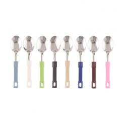 16 COLOURS 6 PCS STAINLESS STEEL SPOON