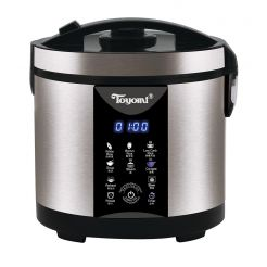TOYOMI 1.8L MICRO-COM LOW-CARB STAINLESS STEEL RICE COOKER RC 4348SS