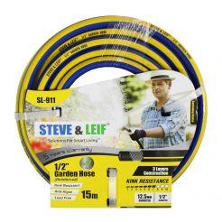 STEVE & LEIF 12.5MM BLUE & YELLOW PVC HOSE PER METER