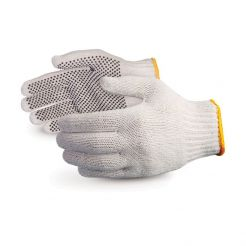 COTTON WORKING GLOVE WITH RUBBER PALM