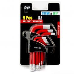 STEVE & LEIF 9 PCS BALL POINT / HEX KEY SHORT HANDLE